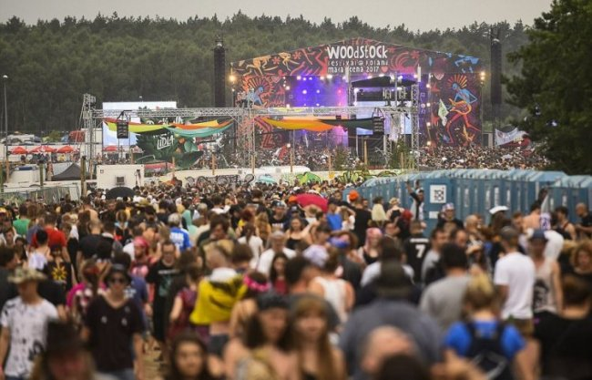 Woodstock music festival in Poland 2017